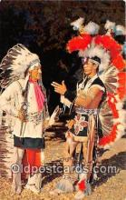 ind300135 - Chief & Son in Tribal Dress Color by Bob Taylor Postcard Post Cards