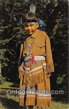 ind300136 - Bi-Taw, Chippewa Indian Girl Lake Mille Lacs, Minnesota, USA Postcard Post Cards