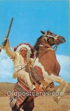 ind300139 - Indian & His Horse Photo by Harvey Caplin Postcard Post Cards