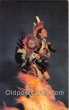ind300167 - Adam Trujillo Famous Indian Dancer Color Photo Manley, Western Ways Postcard Post Cards