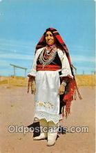 ind300171 - Pueblo Indian Woman in Full Dress Color by Caplin Postcard Post Cards