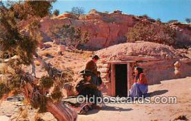 Navajo Family, Hogan