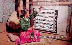 ind300195 - Navajo Rug Weaver  Postcard Post Cards
