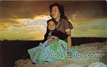 ind300196 - Navajo Indian Squaw & Papoose Color by Leonard Raef Postcard Post Cards