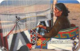 ind300226 - Navajo Rug Weaver  Postcard Post Cards