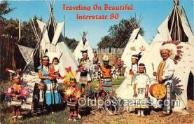 ind300228 - Indian Villages North Platte, Nebraska, USA Postcard Post Cards