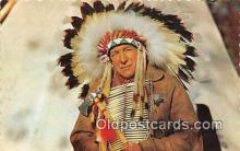 ind300229 - Native Canadian Indian Chief Halifax, NS, Canada Postcard Post Cards