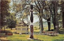 ind300234 - Indian Totem Pole Ulster, PA, USA Postcard Post Cards