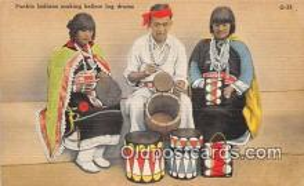 ind300244 - Pueblo Indians Making Hollow Log Drums  Postcard Post Cards
