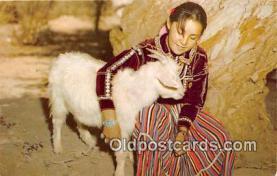 Navajo Maiden & Her Goat