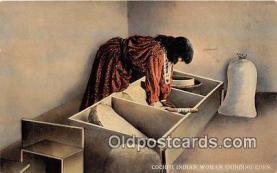 Cochiti Indian Woman Grinding Corn