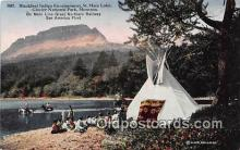 Blackfeet Indian Encampment