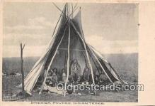 Interior Pawnee Indian Tepee