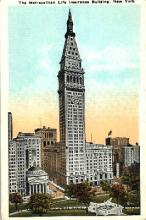 ins001034 - Metropolitan Life Insurance Building New York, USA Postcard Post Cards Old Vintage Antique
