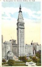 ins001035 - Metropolitan Life Insurance Building New York, USA Postcard Post Cards Old Vintage Antique