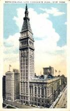 ins001037 - Metropolitan Life Insurance Building New York, USA Postcard Post Cards Old Vintage Antique