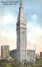 ins001039 - Metropolitan Life Insurance Building New York, USA Postcard Post Cards Old Vintage Antique