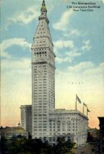 ins001047 - Metropolitan Life Insurance Building New York City, USA Postcard Post Cards Old Vintage Antique
