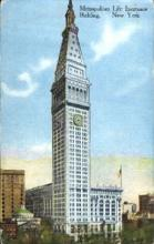ins001048 - Metropolitan Life Insurance Building New York, USA Postcard Post Cards Old Vintage Antique