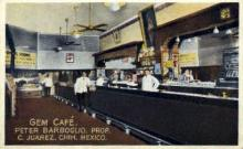 int001003 - Gem Café, Mexico Retail Interior Postcard Postcards
