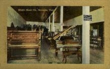 int001006 - Bright Music Co., Gonzales, Texas Retail Interior Postcard Postcards