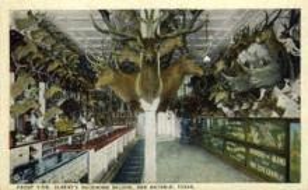 int001011 - Alberts Buckhorn Saloon, San Antonio, TX Retail Interior Postcard Postcards