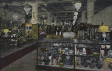 int001024 - World's Antique Mart, S. Michigan St.  Chicago, USA Store Interior Postcard Postcards