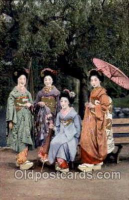 jpn000316 - Japan, Japanese Art, Artist, Postcard Postcards