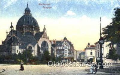 jud001156 - Dortmund Synagogue Judaic, Judaica, Postcard Postcards