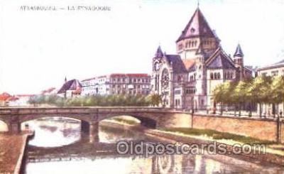 jud001169 - Strasbourg Synagogue Judaic, Judaica, Postcard Postcards