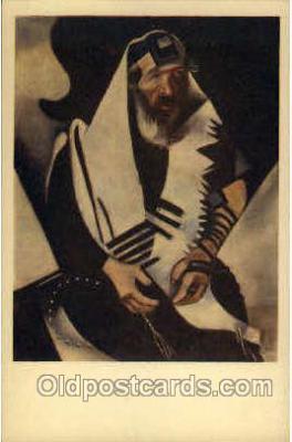 jud001198 - Artist Marc Chagall - Portrait of a Rabbi