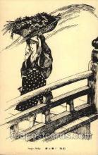 jpn000179 - Japan, Japanese Art, Artist, Postcard Postcards