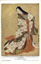 jpn000353 - Harunobu, The Poetess Komachi, Japan, Japanese Art Postcard Postcards