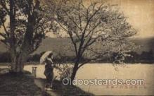 jpn001123 - Cherry of Hirosawa pond Ranzan Japanese Postcard Postcards