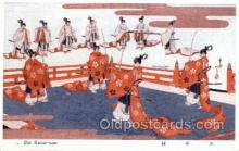 jpn001238 - Japanese Samurai Old Vintage Antique Postcard Post Cards