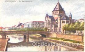 jud001049 - Strasbourg Synagogue, Judaic Postcard Postcards