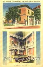 jud001074 - Interior and Exterior of the oldest Synagogue in America, Newport, R.I. USA Judaic, Judaica, Postcard Postcards