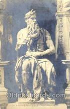 jud001097 - Michelangelo, Moses Judaic, Judaica, Postcard Postcards