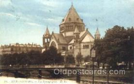 jud001137 - Strasbourg Synagogue, Judaic, Judaica, Postcard Postcards
