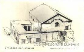 jud001148 - Synagogue Capharnaum Judaic, Judaica, Postcard Postcards