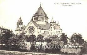 jud001153 - Strasbourg Jewish Temple, Temple Israelite, Judaic, Judaica, Postcard Postcards