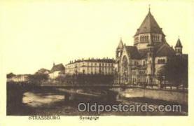 jud001189 - Strassburg Synagoge Judaic, Judaica, Postcard Postcards