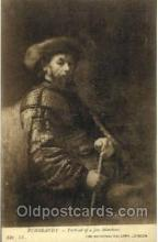 jud001197 - Rembrandt - Portrait of a Jew Merchant, Judaic Postcard Postcards