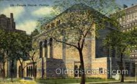 jud001319 - Temple Sholom, Chicago, ILL USA, Judaic, Judaica Postcard Postcards