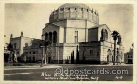 jud001320 - Bnai Brith Synagogue, Wilshire Blvd, Los Angelas, Califfornia, USA Judaic, Judaica Postcard Postcards