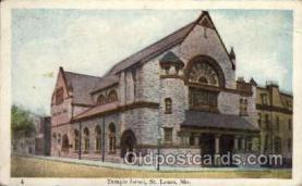 jud001321 - Temple Israel, St. Louis, Mo. USA, Judaic, Judaica Postcard Postcards