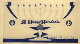 jud001325 - A Happy Hanukah, Judaic, Judaica, Postcard Postcards