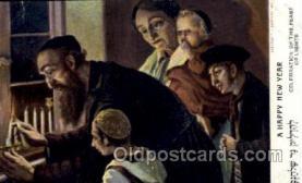 jud001333 - A Happy New Year, Judaic, Judaica, Postcard Postcards