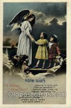 jud001368 - A Happy New Year, Judaic, Judaica, Postcard Postcards