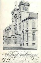 jud001395 - Bruxelles La Synagogue, Judaic Judaica, Postcard Postcards
